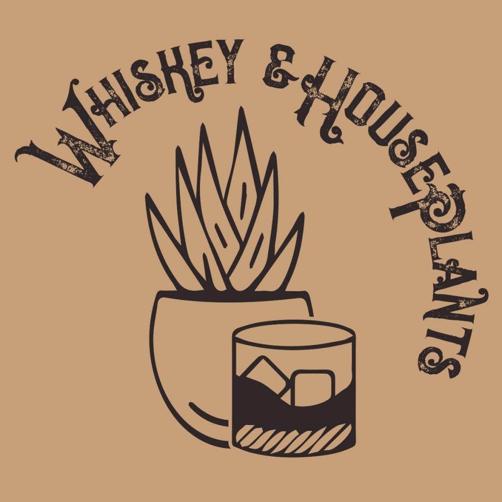 whiskey and houseplants logo